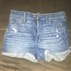 Hollister high waisted denim shorts size 5